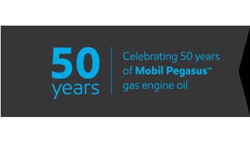 Celebrating 50 years of Mobil Pegasus™ gas engine oil